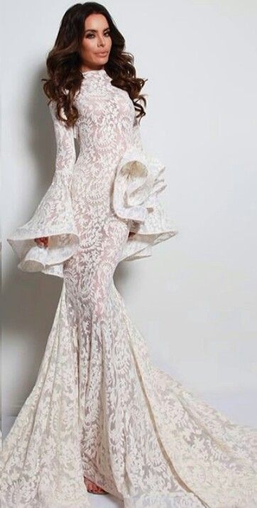 Michael Costello - Gorgeous Wedding Reception dress idea.