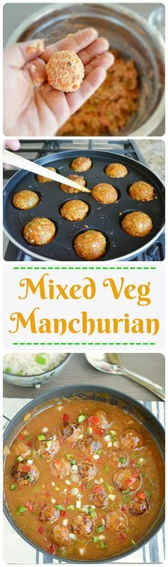 Mixed vegetable balls dipped in soy based gravy is a popular Indo - #Chinese recipe. Enjoy the healthy version of non fried #manchurian balls. #indianfoodcollection