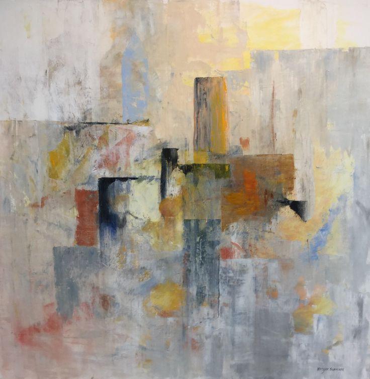 Cityscape 2,  Acryl  100x100 cm