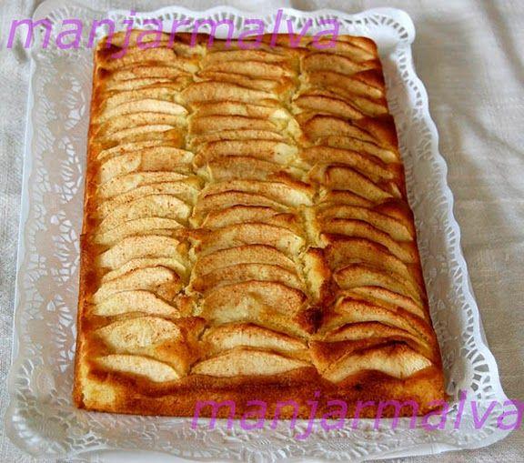 Tarta de manzana   Ingredientes:  1 Kg. de manzanas 200 gr. margarina vegetal 4 huevos 10 cucharadas de azúcar 14 cucharadas de harina 1 s...
