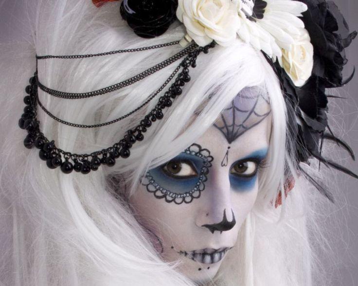 101 best Day of the dead/skull make up ideas images on Pinterest ...
