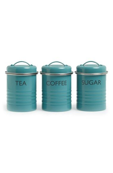Typhoon 'Vintage Kitchen - Summer House' Enamel Tea, Coffee & Sugar Storage Canisters (Set of 3) available at #Nordstrom