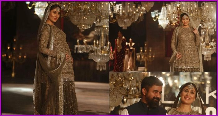 #LFW2016 – Kareena Kapoor Khan With a Baby Bump Walks Like a Stunning Queen for Sabyasachi