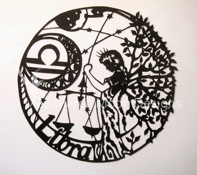 'Libra' Zodiac paper Cut £45.00