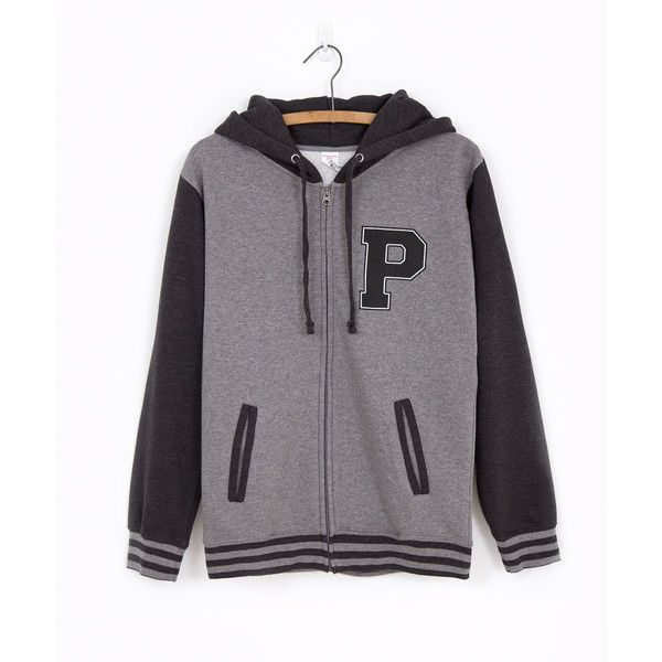 Pusheen Varsity unisex zip-up hoodie ($51) ❤ liked on Polyvore featuring tops, hoodies, coats, zip up hoodies, zip up top, hooded pullover, hooded sweatshirt and hooded zip up sweatshirt