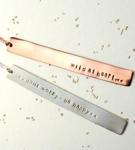 Carry a short 'n sweet message wherever you go with this dainty custom necklace.