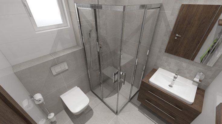 Malá kúpeľňa so sprchovacím kútom a toaletou