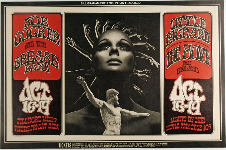 Psychedelic Art Exchange | Concert Poster Store — 1969 Joe Cocker & His Grease Band, Fillmore West