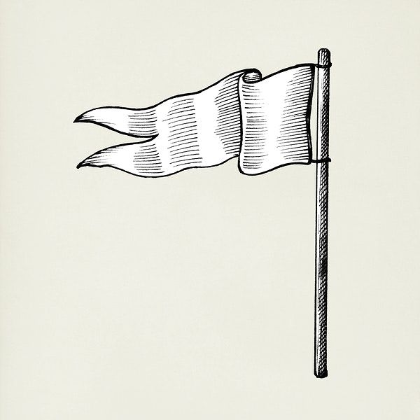 Hand Drawn White Flag Isolated On Background Free Image By Rawpixel Com Flag Drawing How To Draw Hands White Flag