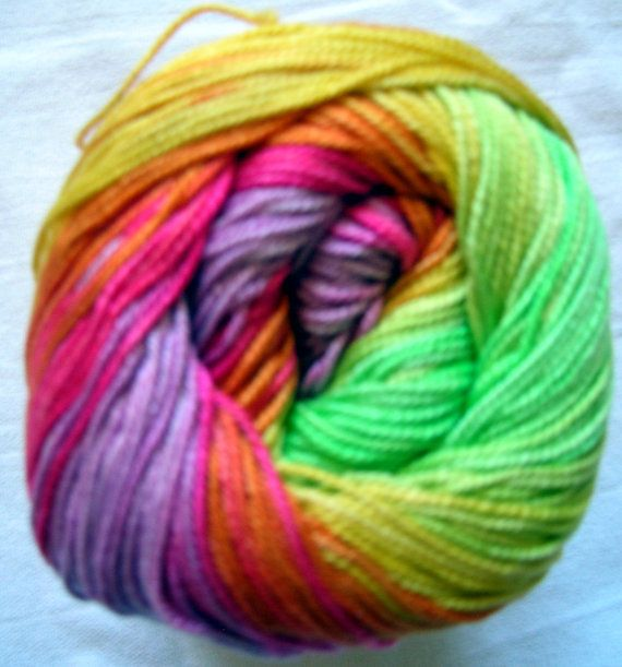 Alize Miss Batik. 100% Mercerised Cotton. Color 3715 DSH