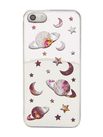 super popular a03a6 9aa5e Skinnydip iPhone 5/5S Space Glitter Case   FUNDAS ☆ミ ☆彡   iPhone ...