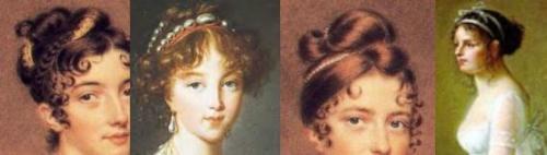 Regency Hairstyles for Women.  Via Jane Austen's World.