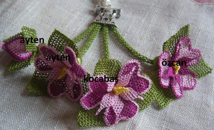 İğne Oyası Çiçek Tesbih Ucu Yapımı - Moda Yeni | Moda - Havlu kenarı modelleri - iğne oyası