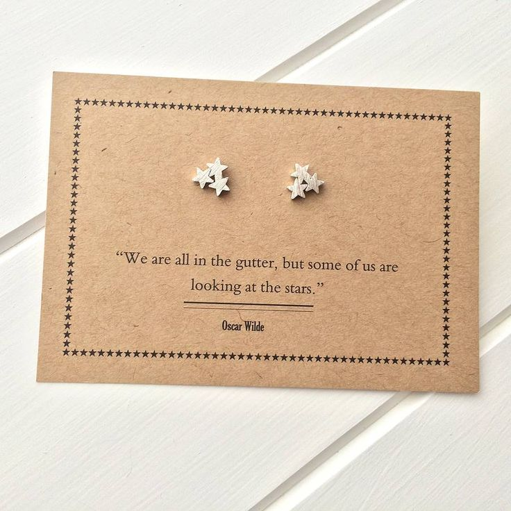 oscar wilde star earrings by literary emporium | notonthehighstreet.com
