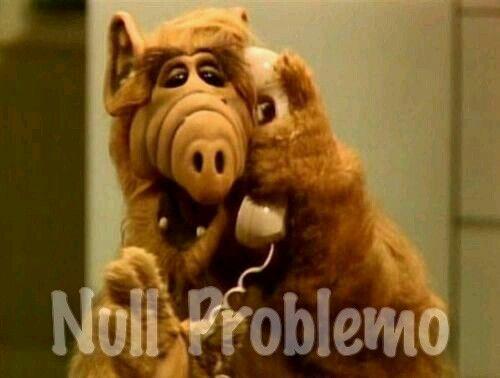 """""""Null Problemo"""" ALF"""