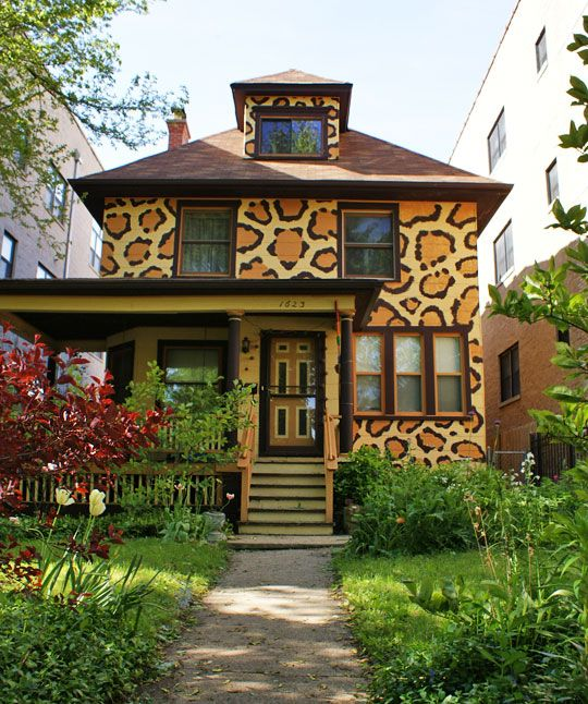 Leopard print house!Dreams Home, Future House, Dreams House, Painting House, Leopards Prints, Animal Prints, Leopard Prints, Cheetahs Prints, Giraffes