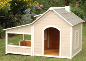 Large and Small Insulated Dog House by Precision Pet - OUTBACK SAVANNAH Model