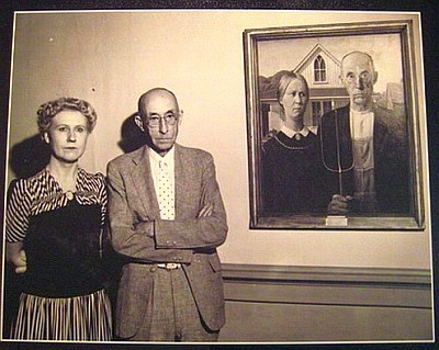 : Models, Real People, Sisters, Real Life, The Artists, The Real, Grant Wood, Grantwood, American Gothic