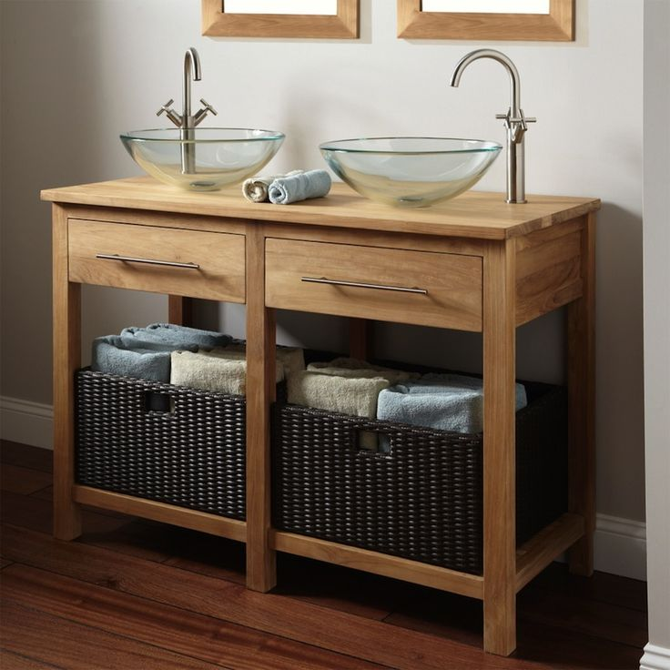 Cool vanity wooden bathroom cabinets furniture. Pamper Your Home with These Amazing Wooden Bathroom Cabinets ➤To see more Luxury Bathroom ideas visit us at www.luxurybathrooms.eu #luxurybathrooms #homedecorideas #bathroomideas @BathroomsLuxury
