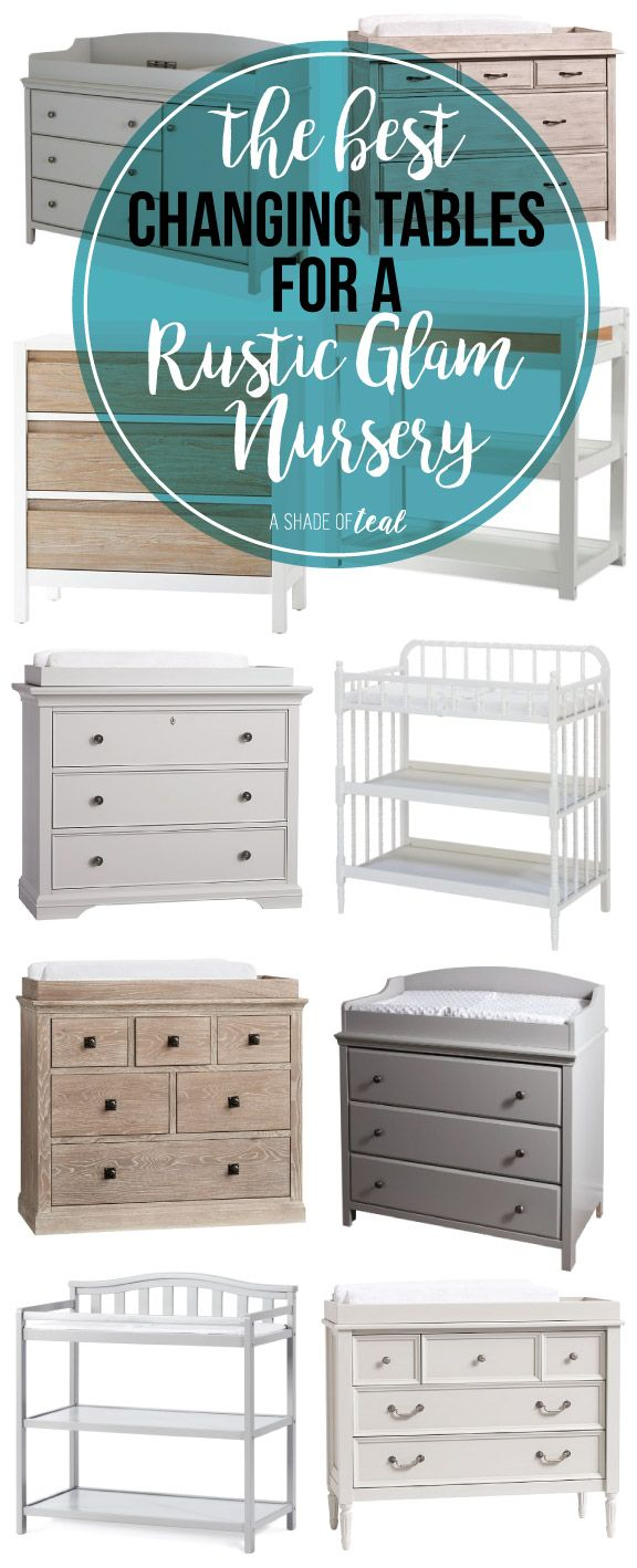 The Best Changing Tables for a Rustic Glam Nursery. Get the rustic glam look with any of these changing tables. | A Shade Of Teal