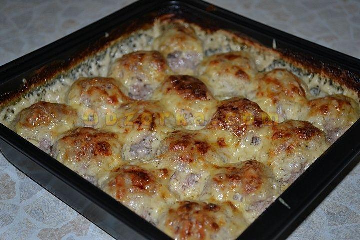 Фрикадельки под сырной корочкой
