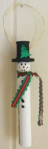 Family | Kids | Crafts | Clothespin Snowmen