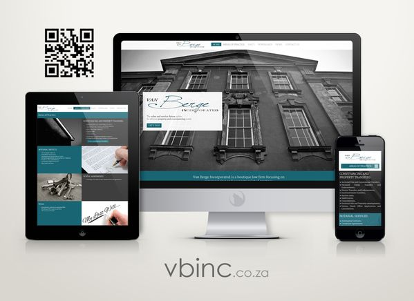 Check out the new website we designed for attorneys, Van Berge Inc: http://www.vbinc.co.za