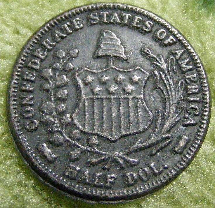 1861 Confederate States Of America Half Dollar Reverse