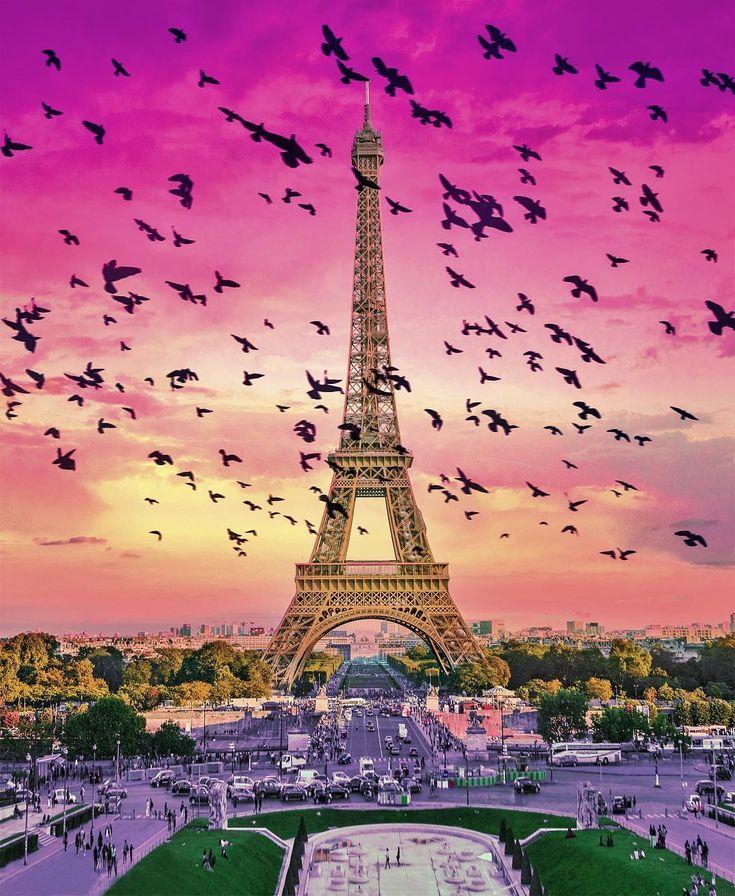 помощью очень красивые картинки с эйфелевой башней рисовать