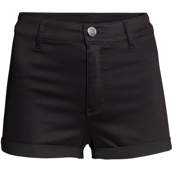 H&M Shorts High waist ($19) ❤ liked on Polyvore featuring shorts, bottoms, black, high rise shorts, h&m, black shorts, highwaisted shorts and h&m shorts