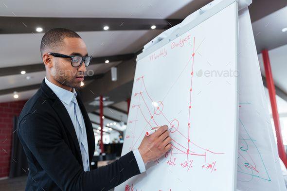 Businessman Making Presentation On The Flipchart Business Man Business Photos Interview Coaching