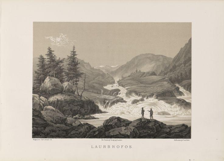 Norge fremstillet i Tegninger - Magnus Thulstrup Bagge - Laurbrofos. jpg (6088×4360)