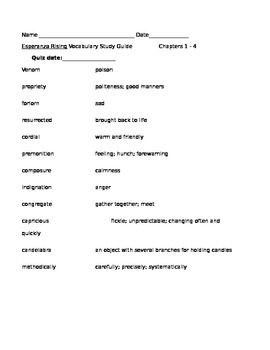 best esperanza rising images esperanza rising  this is a sample of the first four chapters of vocabulary quizzes for esperanza rising