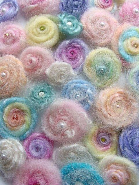 wool roses