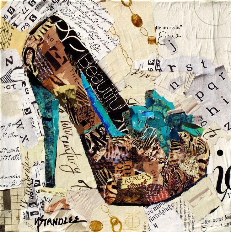 newspaper art | Nancy Standlee Fine Art: Painted Paper Collage Painting ~ California ...