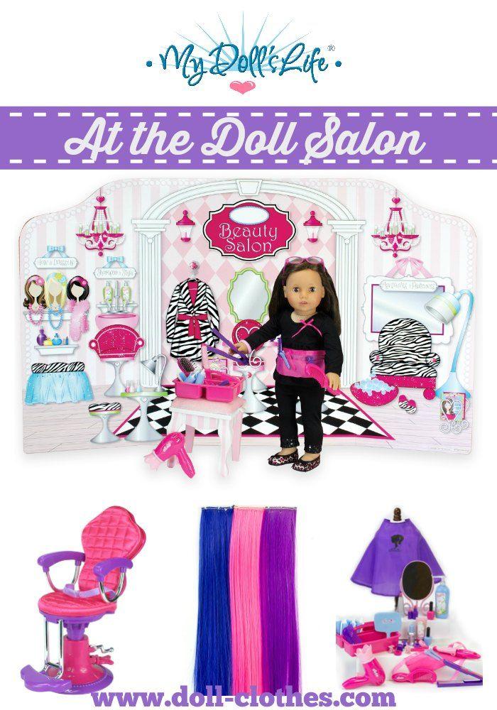 Hair Salon Set For 18 Inch Dolls Doll Hair American Girl Doll Girl Dolls