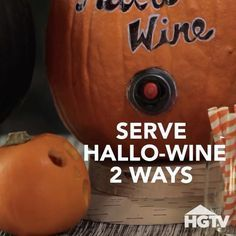 Hallo-wine, anyone? Use a pumpkin to serve boxed wine at your #Halloween shindig! Best idea ever? We think so!