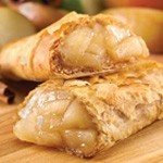 Aunt Trudy's Organic Apple Cinnamon Fillo Pocket Pastry (5 oz.) -  Diced Granny Smith #apples delicately seasoned with cinnamon, vanilla and nutmeg, wrapped with #Organic #Fillo dough in the shape of a hand-held rectangle. USDA #Organic, #Vegan, #Kosher OU-Parve, Yeast-Free, No Trans-Fat, No Saturated Fat, No Cholesterol. See nutrition or shop online at http://www.fillofactory.com/desserts.html. #dessert