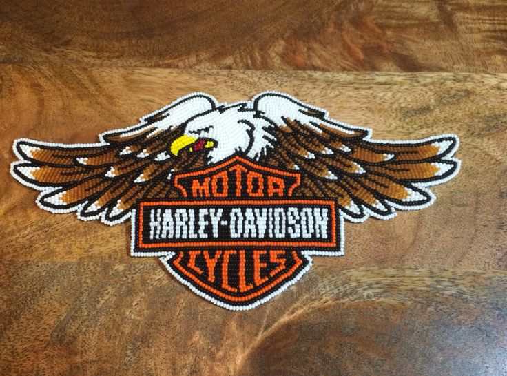 Harley Emblem For A Friend Beaded By Adam Avery My