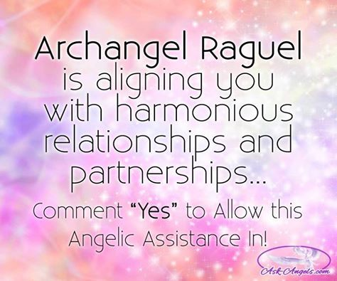Archangel Raguel is aligning you with harmonious relationships and partnerships...  #archangel #Raguel #aligningrelationship #angelicguidance #askangels
