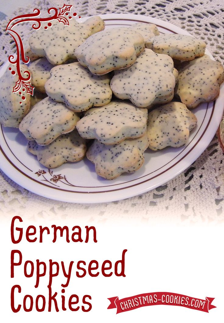 German Poppy Seed Cookies Mohn Cookies Traditional Recipe And History