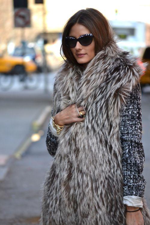cozyFur Coats, Oliviapalermo, Fashion Weeks, Winter, Street Style, Fur Vests, New York Fashion, Olivia Palermo, Faux Fur Vest