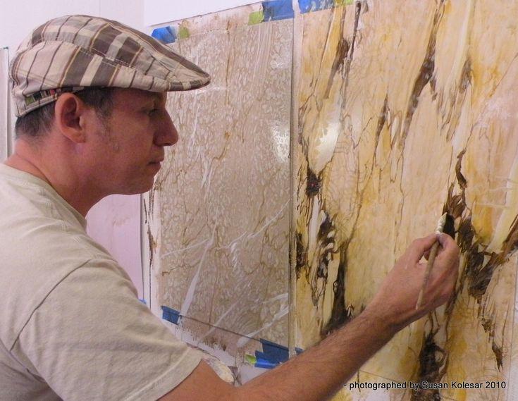 335 best faux images on pinterest decorative paintings for Faux marble painting techniques