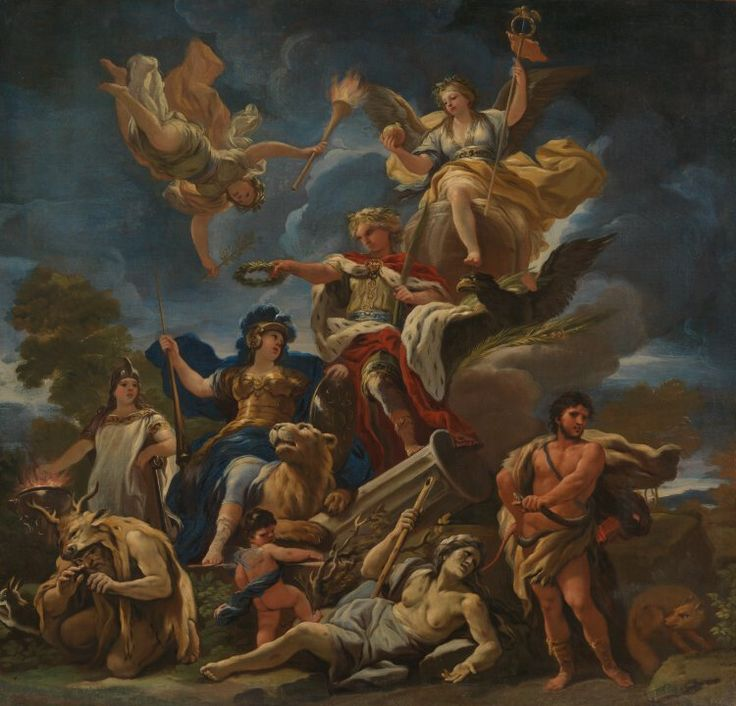 Allegory of fortitude, Luca Giordano