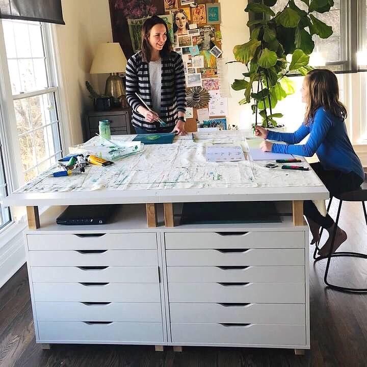 Diy Art Table Plan Download Elizabethwade Studio Ikea Craft Room Ikea Art Art Studio Room