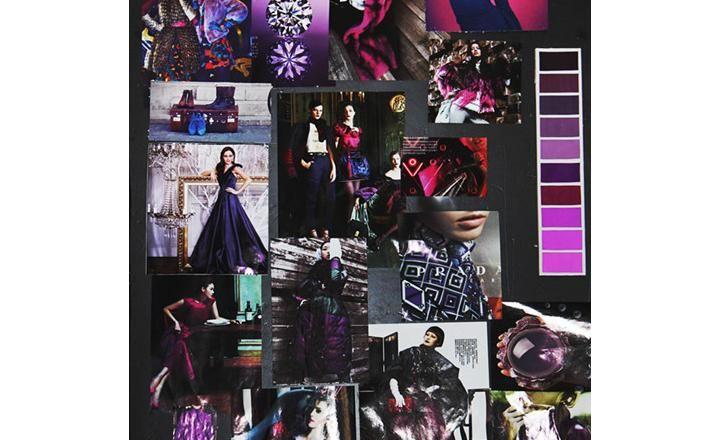 Fashion moodboard - purples