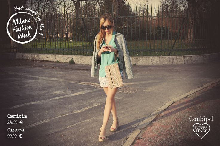 Look 5 mint, flowers, shorts, jais jacket. New collection, spring 2014.