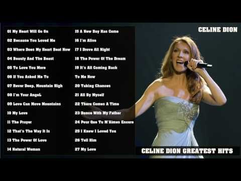 Celine Dion Greatest Hits 2016 | Best Songs Of Celine Dion - YouTube