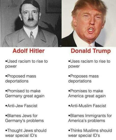 Trump vs Hitler I'm still worried about this!