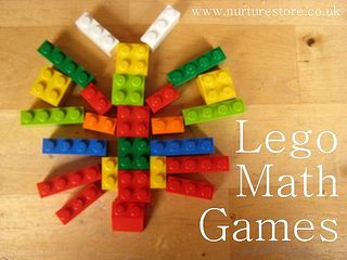 Lego math games - what a great idea! - Make sure you have enough spare Lego blocks to complete the other side of  the pattern and then see how long it takes you to find all the right pieces. This lets you play and learn, working with ideas about colour, shape, size and orientation.